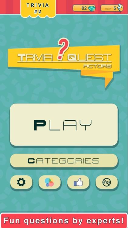 Trivia Quest™ Actors - trivia questions