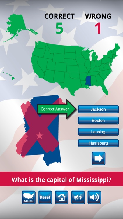 US States and Capitals Quiz : Learning Center screenshot-3