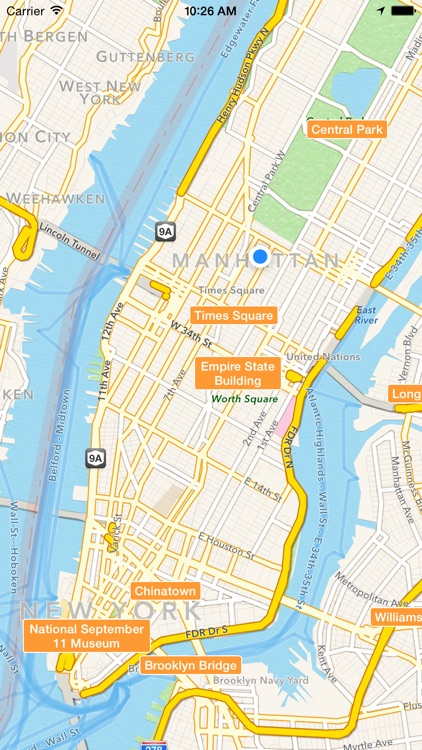 NYC Tourist Map - Travel Map for New York City by Techkinesis Inc