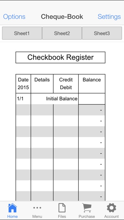 Check Book Register