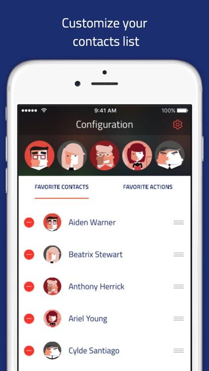 Veer launcher - Contacts widget for notification center by Veecards screenshot-3