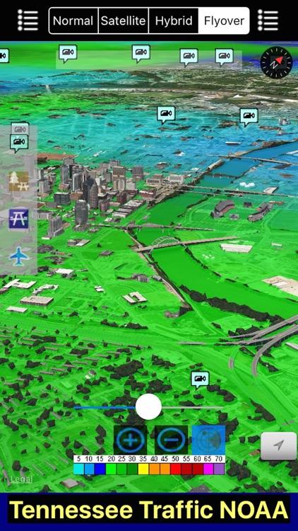 Tennessee NOAA Radar with Traffic Cameras 3D Pro screenshot-4