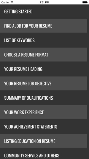 Guide To Writing The Perfect Curriculum Vitae Resume On The App Store
