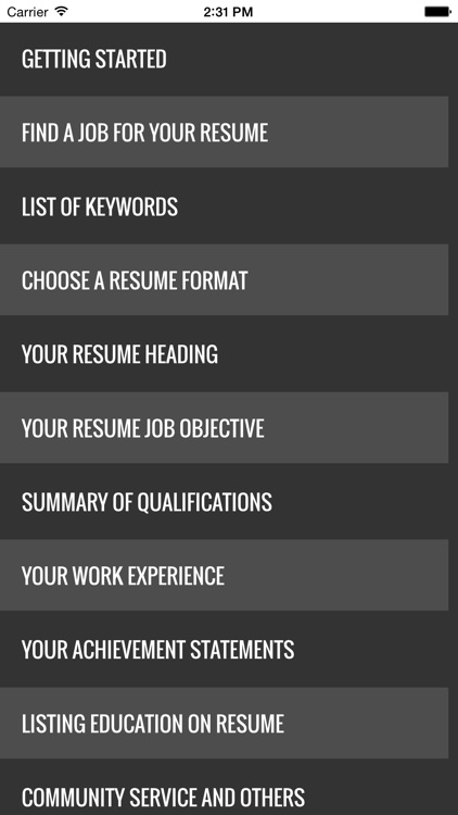 Guide to writing the perfect Curriculum Vitae (Résumé) screenshot-3