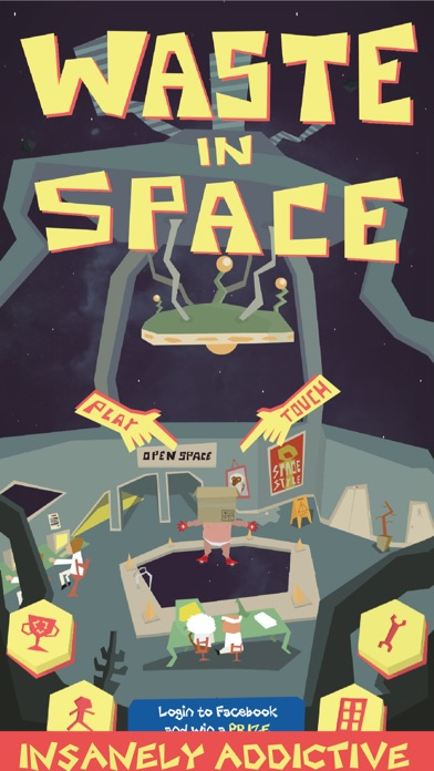 Waste in Space - Endless Arcade Shooter screenshot one