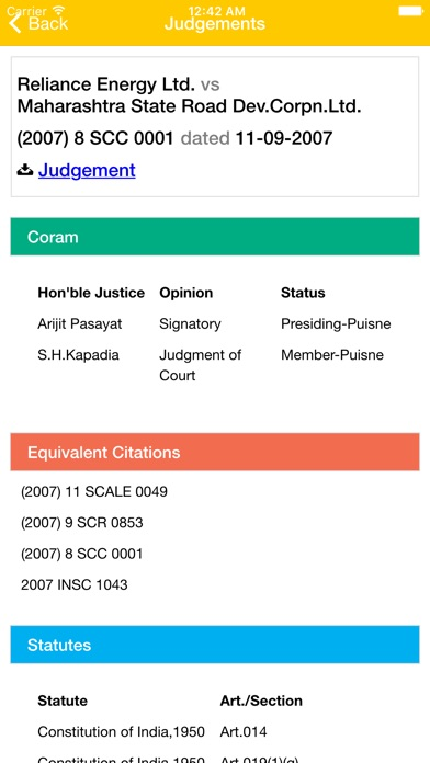 SpotLaw : Supreme Court Judgements Screenshot on iOS