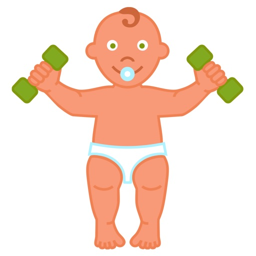 Fitness for baby: workout and massage to develop and strengthen a child's body.