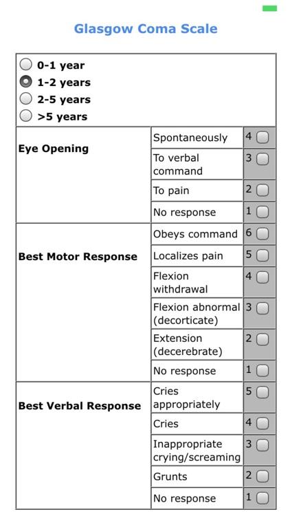 Pediatric scores