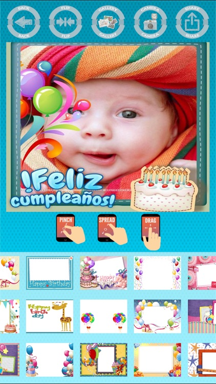 Happy birthday photo frames edit and create cards