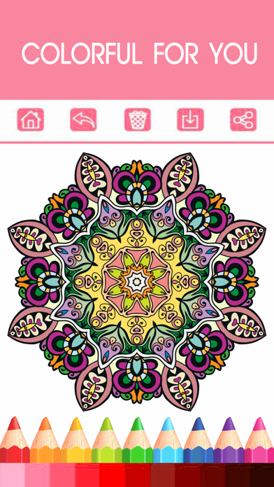 Libro Para Colorear De Mandala - Gratis Adulto Colores Páginas Del Alivio De Tensión Libre De TerapiaCaptura de pantalla de2