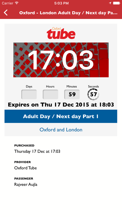 Oxford Tube Mobile Ticket screenshot four