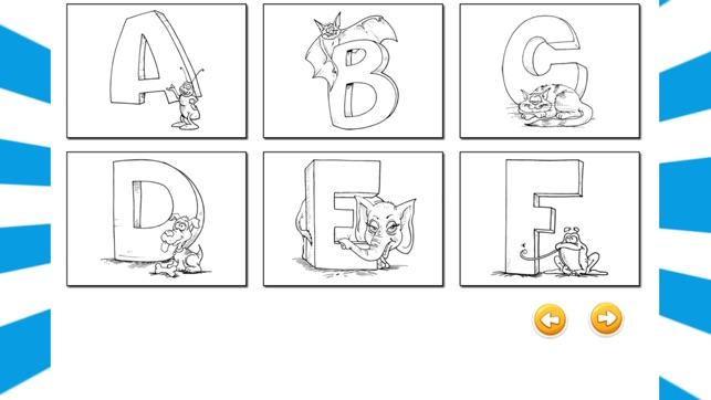 Spelen Alfabet Kleurplaat Kinderspelletjes Kinderen Engels