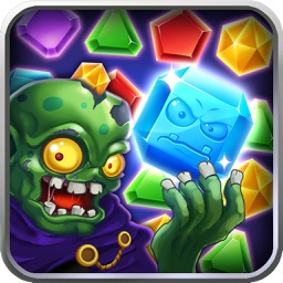 Zombie Attack Jewels Magic - Puzzle Gems