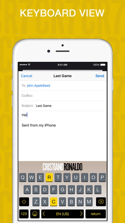 iphone text message cristiano ronaldo keyboard by kibo mobile tech ltd 4418