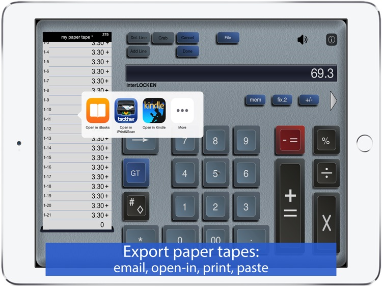 Adding Machine 10Key iPad Lite screenshot-3