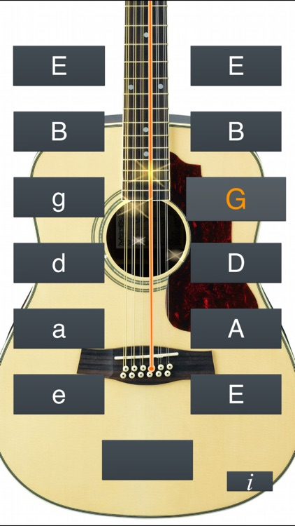 12-String Guitar Tuner Simple screenshot-1