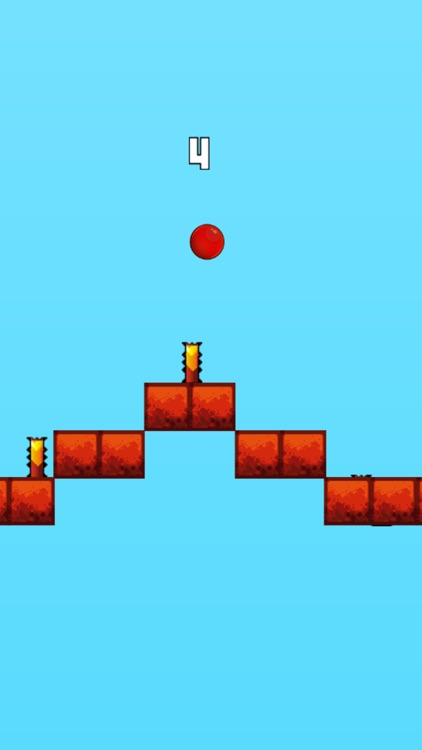 Red Bouncing Ball - Jump Over Spikes