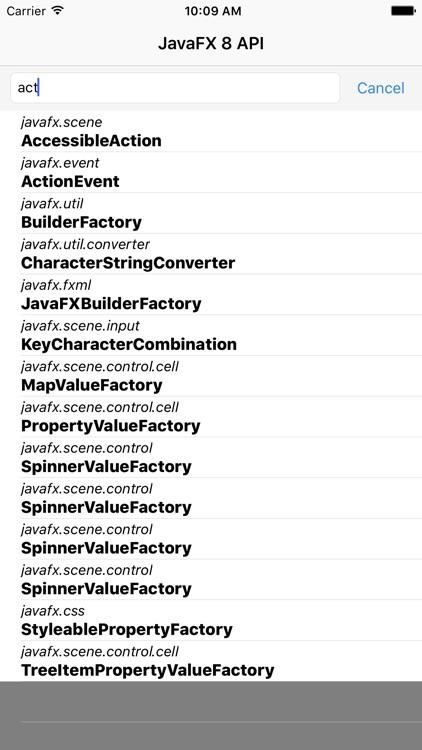 JDoc - JavaFX 8 API