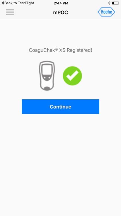 CoaguChek XS mPOC App
