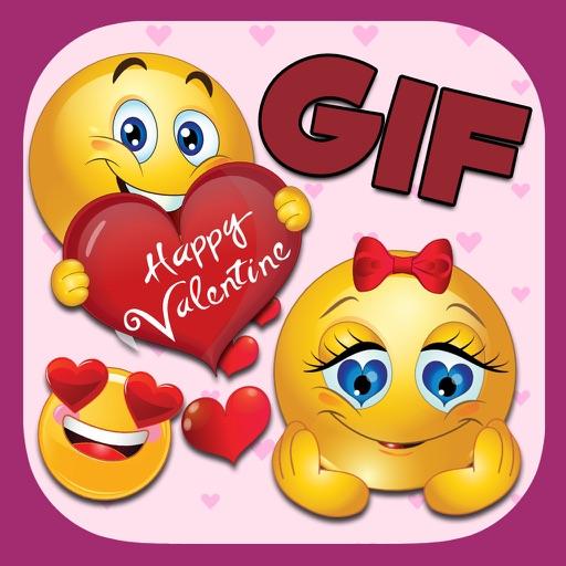 Valentine's Day 3d Emojis & GIFs iOS App