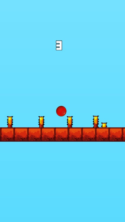 Red Bouncing Ball - Jump Over Spikes screenshot-4