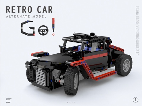 Retro Car For Lego Technic 9395 Set Building Instructions App