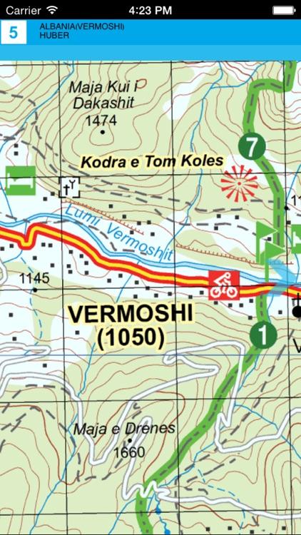 Vermosh, Tamare, Razma, Thethi. Tourist map. screenshot-3