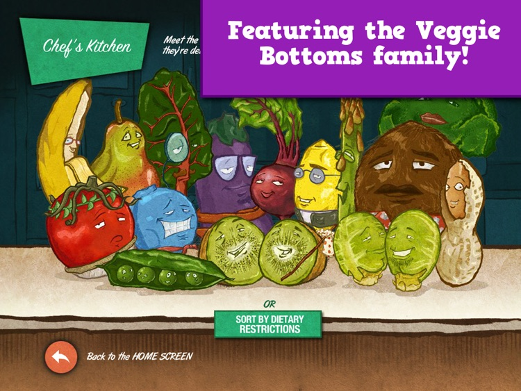 Veggie Bottoms Kitchen – The Fun Kids Cookbook screenshot-1