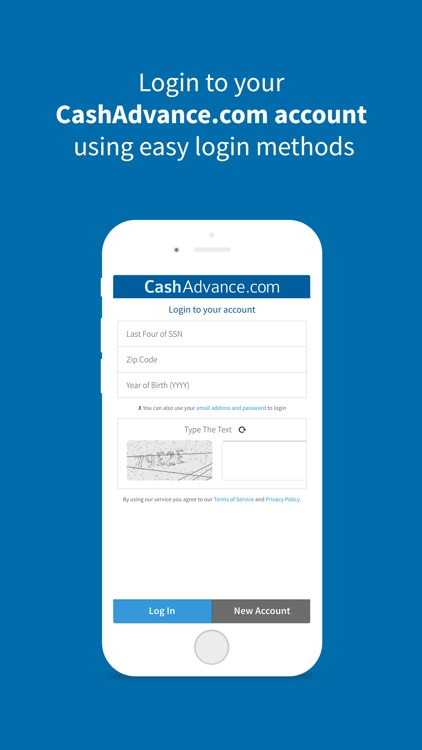 CashAdvance Mobile - Loan options on the go
