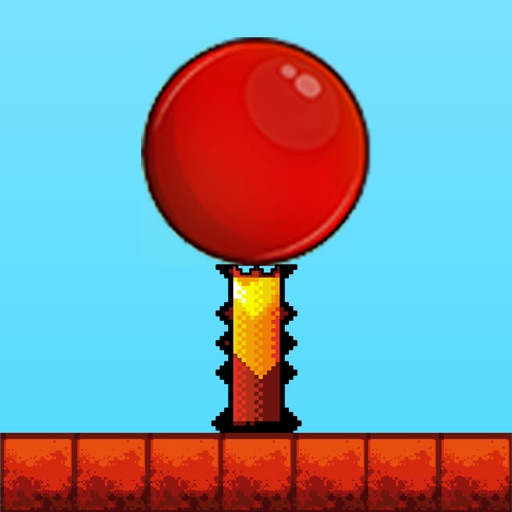 Red Bouncing Ball - Jump Over Spikes (Pro)