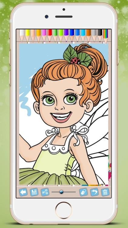 Fairies Coloring Book - Paint princesses tales screenshot-3