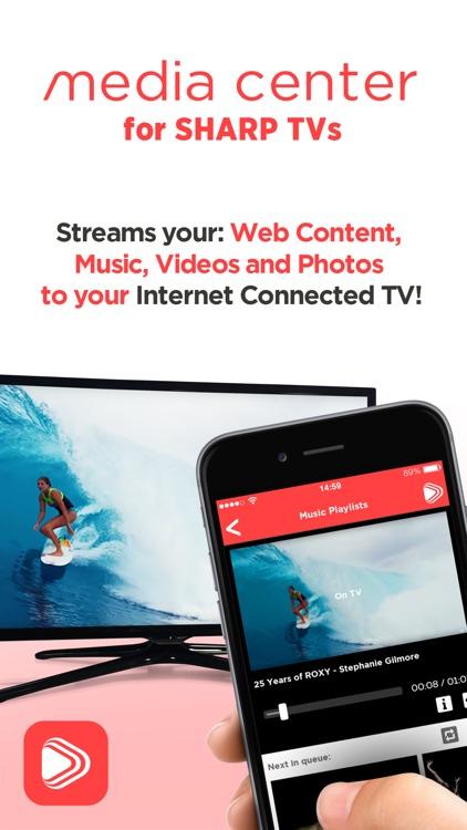 Media Center for Sharp Smart TVs