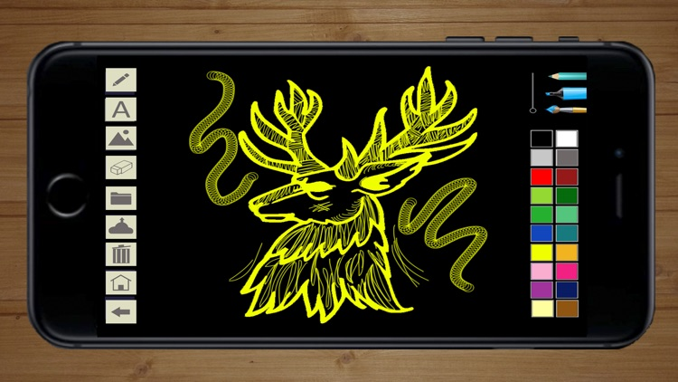 Draw with neon on screen with your finger - Premium screenshot-3
