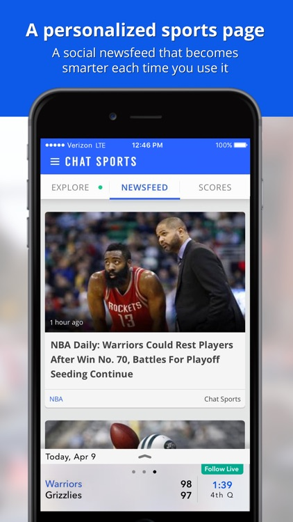 Sports News & Scores: Personalized by Chat Sports