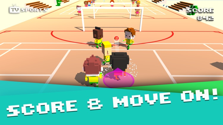 TV Sports Soccer - Endless Blocky Runner screenshot-3