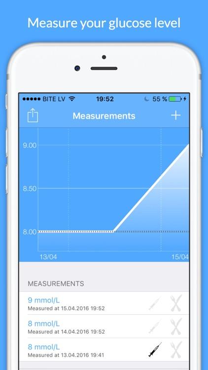Diabetes Tracker - glucose level tracking