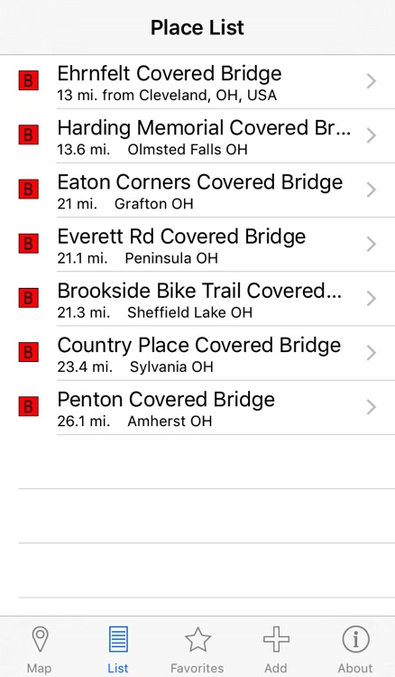 Covered Bridges Locator