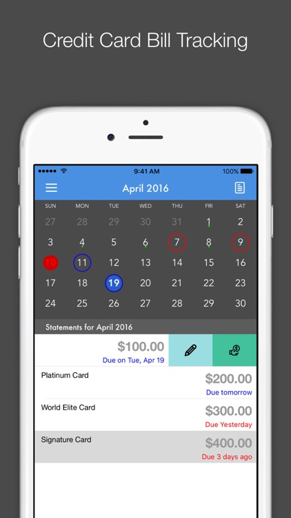 Card Due - Credit Card Bill Tracker