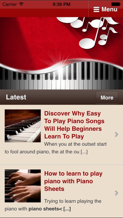 Learn to Play Piano‎ -  Simple Tips for Playing The Piano screenshot-0