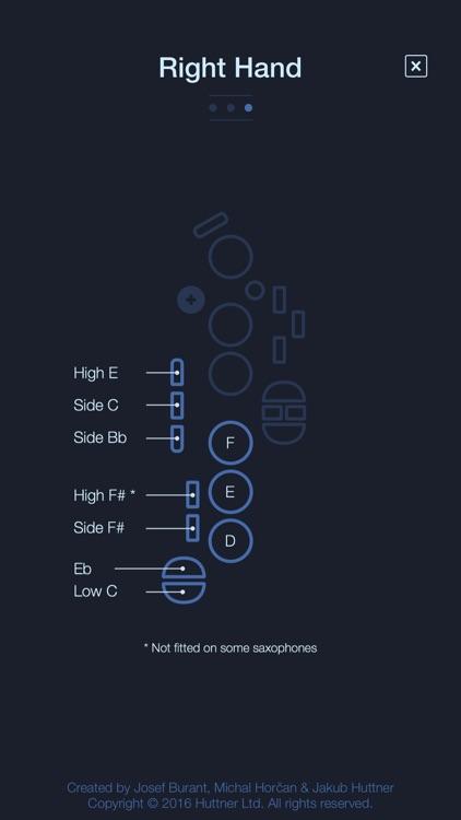 Alto Saxophone Fingering Chart