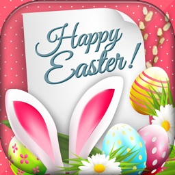 Happy Easter Greeting Cards – Cute Bunny and Colorful Eggs Pics for Holiday Celebration