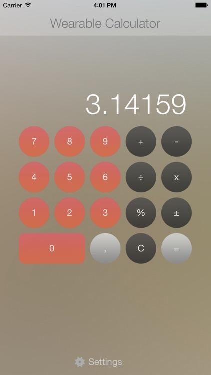 Wearable Calculator for Apple Watch