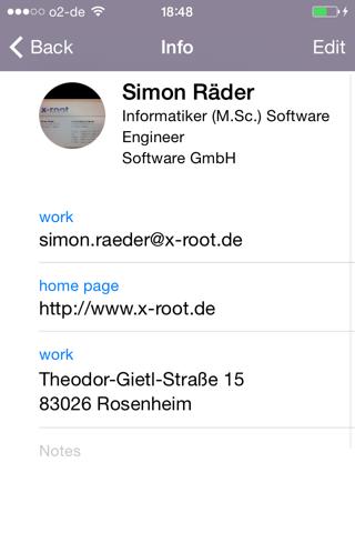 Screenshot of Cardreader – Visitenkarten Scanner