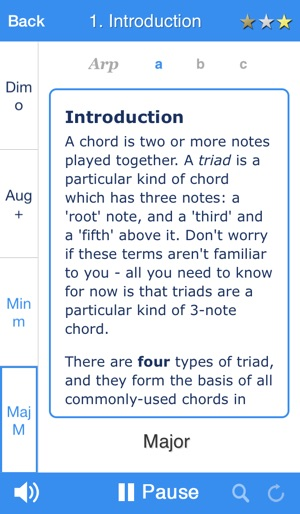 Chordelia Triad Tutor Learn To Hear Major Minor Augmented And