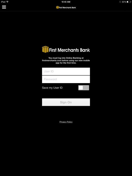 First Merchants Mobile App for iPad screenshot-0