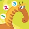 アクティブ! 数えることを学ぶために農場の動物と子供のためのゲームを数える
