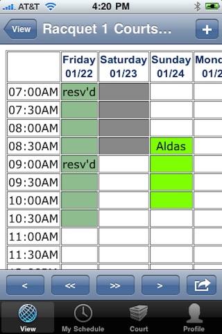 Screenshot of SchedulePT