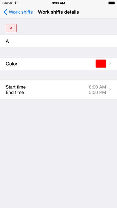 Work Shifts Calendar Lite screenshot four