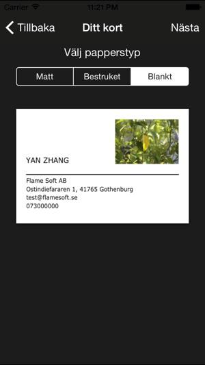 visitkort app