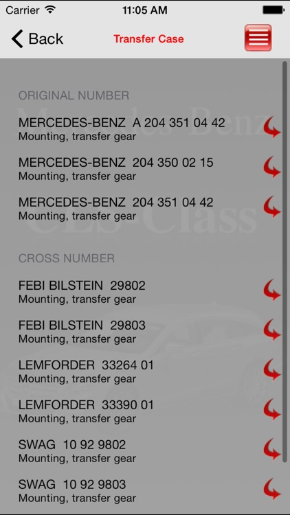 AutoParts  Mercedes-Benz CLS-class screenshot-2